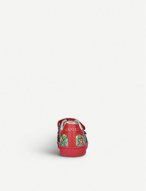 0b6a4fc8452 GUCCI New Ace rodeo canvas trainers 4-9 years