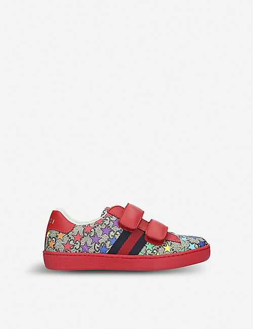 the latest 6101d 5d58a GUCCI New Ace rodeo canvas trainers 4-9 years