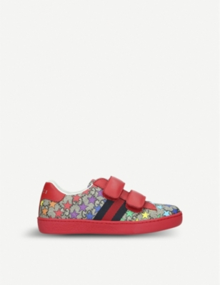 GUCCI New Ace rodeo canvas trainers 4-9 years