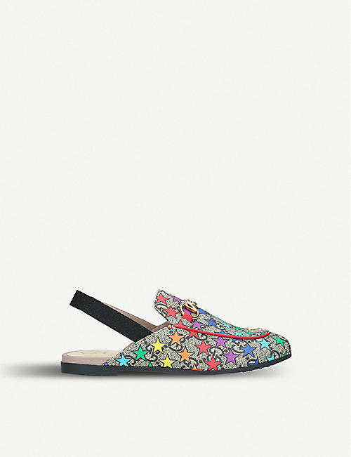 GUCCI Princetown Rodeo canvas mules 4-8 years a96ee2e14