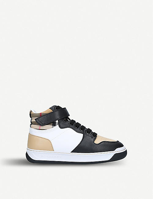 BURBERRY Duke leather trainers 5-9 years