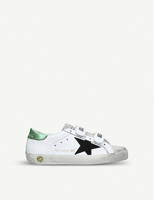 GOLDEN GOOSE Superstar Old School g8 leather trainers 1-5 years