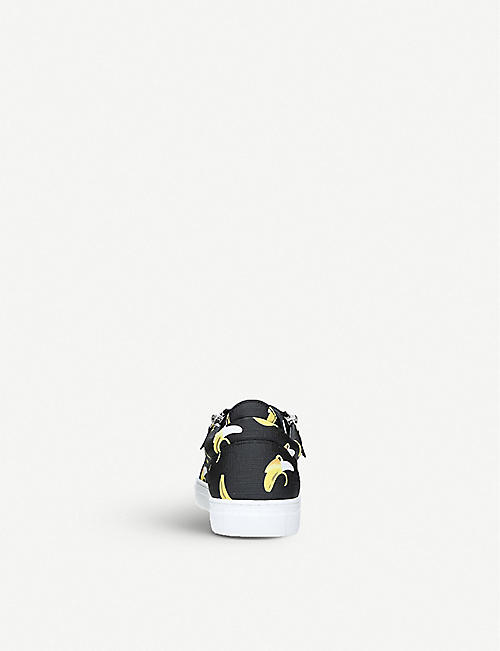 GIUSEPPE ZANOTTI Frankie banana-print leather trainers 2-4 years
