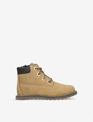 Timberland Slim Premium 6 Faux Fur Collar Nubuck Boots