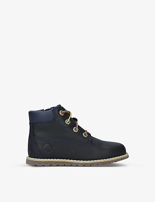 TIMBERLAND: Pokey Pine leather boots 3-7 years