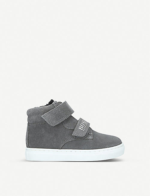 BOSS BY HUGO BOSS Declan hi-top suede trainers 2–4 years