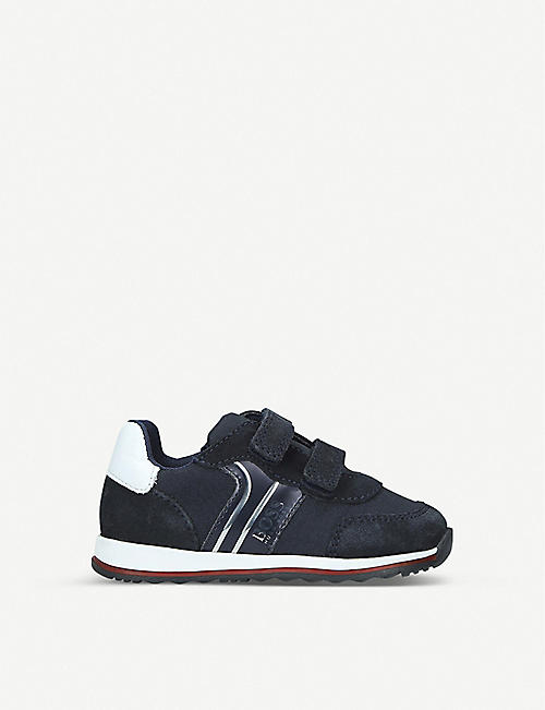 BOSS BY HUGO BOSS Milo low-top leather and suede trainers 2-3 years