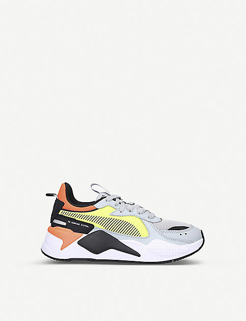 PUMA RS-X Hard Drive leather and mesh trainers 9-12 years