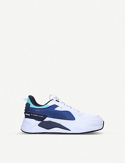 PUMA RS-X Hard Drive leather and mesh trainers 6-9 years