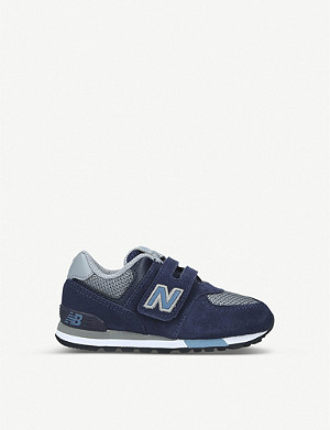 NEW BALANCE 574 panelled suede trainers 6-8 years