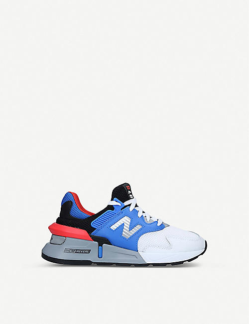 NEW BALANCE 997 suede and mesh low-top trainers 6-8 years