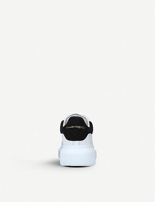 ALEXANDER MCQUEEN Kids Runway leather trainers