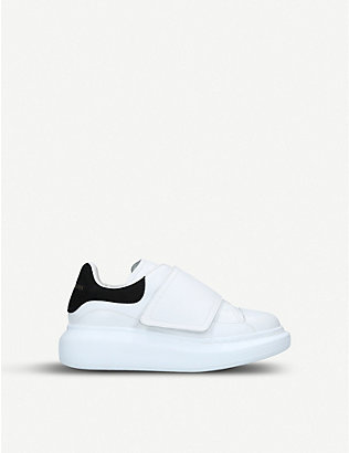 ALEXANDER MCQUEEN: Kids Runway leather trainers 3-8 years
