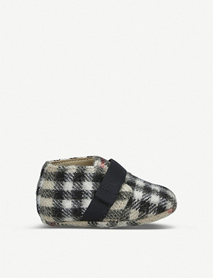 BURBERRY Charlton signature checked wool booties