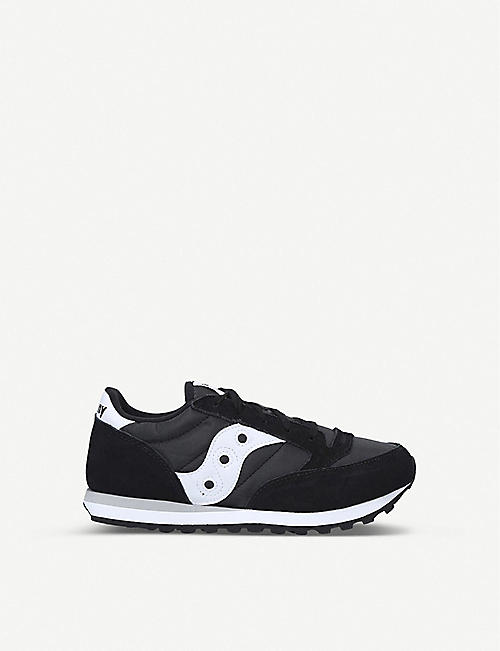 SAUCONY: Jazz Original leather and mesh trainers 7-12 years