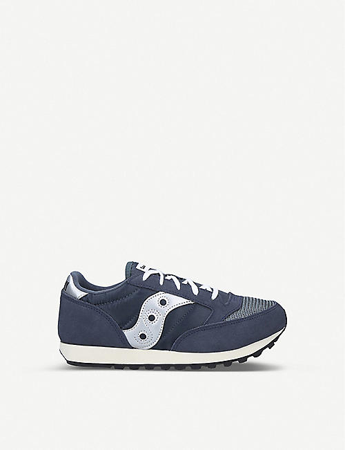 SAUCONY: Jazz Original Vintage leather and mesh trainers 7-12 years
