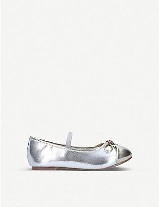 KURT GEIGER LONDON: Mini Esme metallic Mary Jane Shoe Ages 2-7