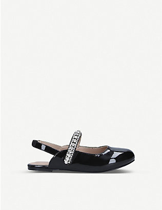 KURT GEIGER LONDON: Mini Princeley embellished ballerina flats ages 8-13