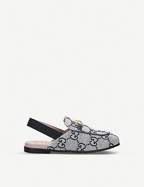 GUCCI Princetown canvas loafers 4-8 years