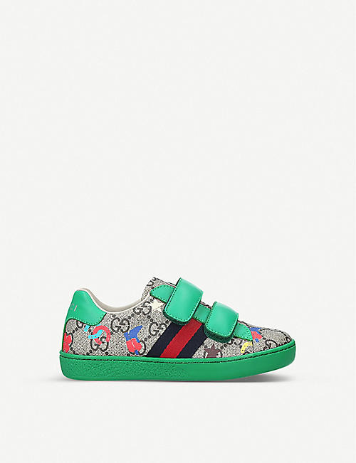 GUCCI New Ace VL Ranch canvas trainers 4-8 years