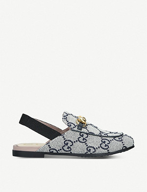 GUCCI Princetown canvas mules 4-8 years