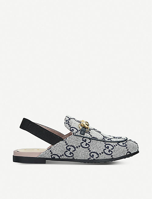 GUCCI: Princetown canvas mules 4-8 years