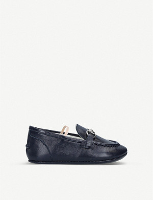 GUCCI Jordaan chainlink leather loafers 4 months-9 years