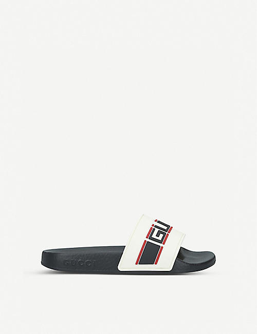 GUCCI Gucci Nastro rubber sliders 5-7 years