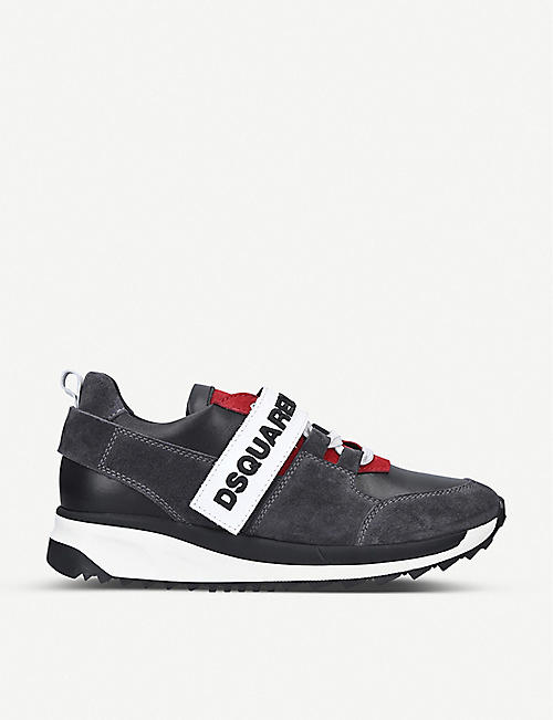 DSQUARED2 Martin colour-blocked suede trainers