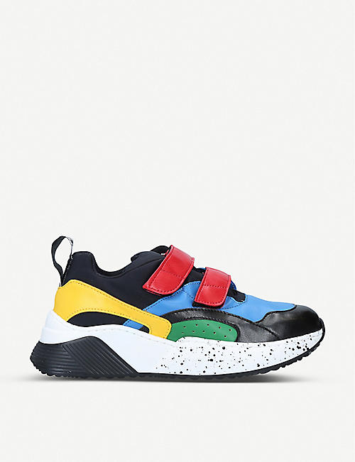 STELLA MCCARTNEY Eclypse panelled faux-leather trainers