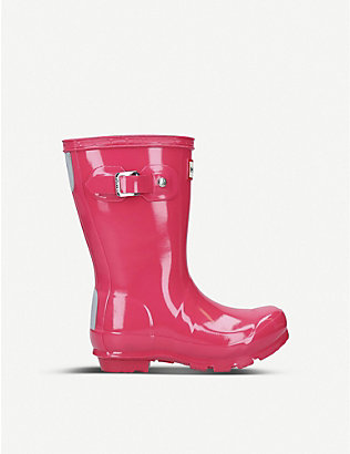 HUNTER: Original Kids gloss rubber wellington boots 3-7 years