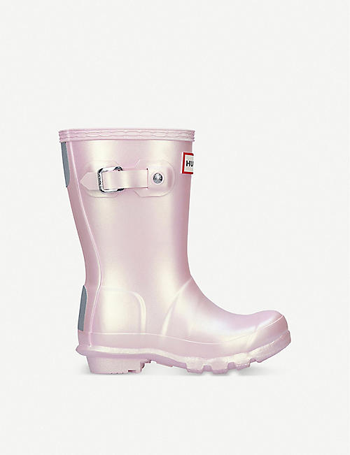 HUNTER Original Nebula iridescent rubber wellies 3-7 years