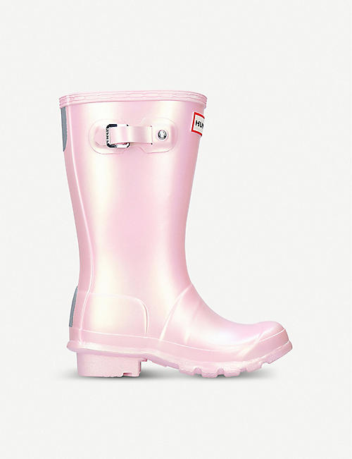 HUNTER Original Nebula iridescent rubber wellies 7-10 years