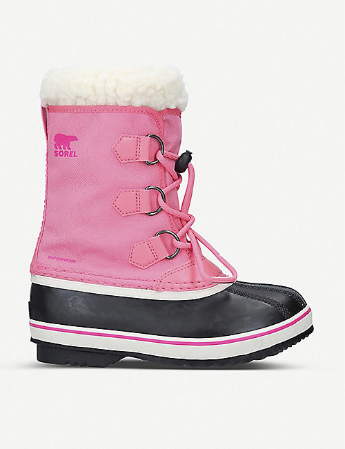 SOREL Leather and shell snow boots 7-10 years