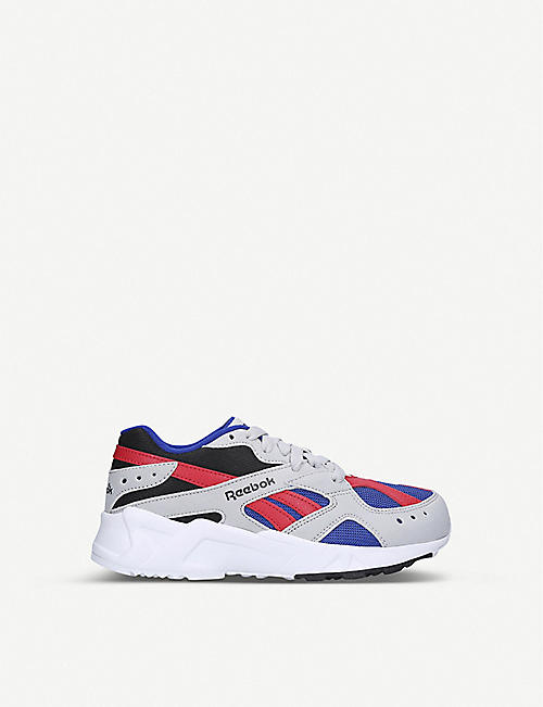 REEBOK Aztrek faux-suede and textile trainers