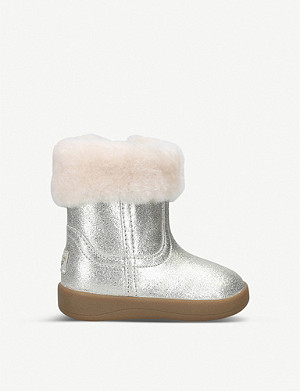 UGG Jorie II suede and sheepskin boots 4 months-1 year