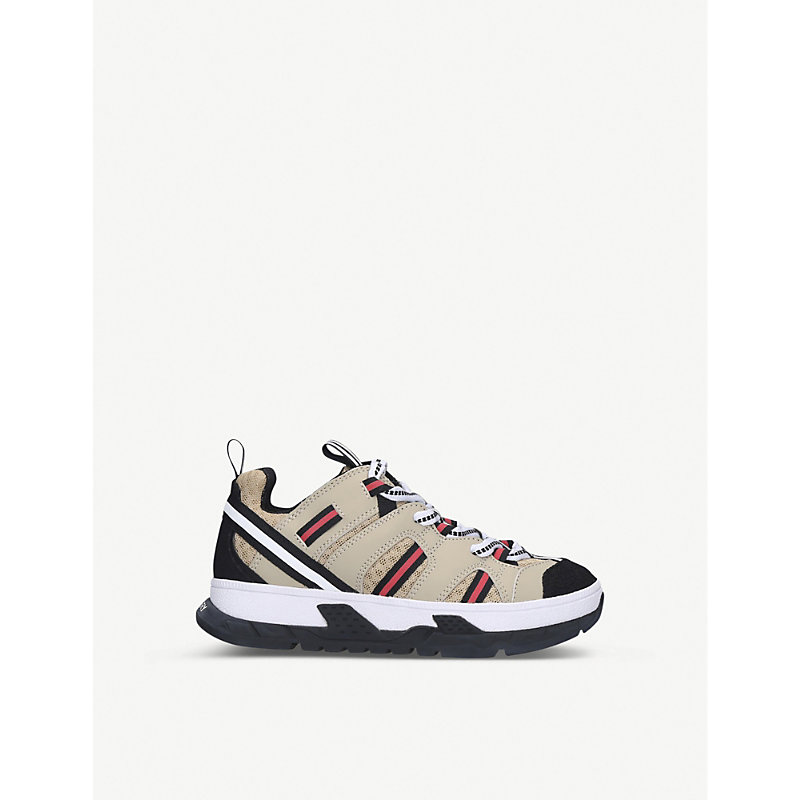 Burberry UNION WOVEN LOW TOP TRAINERS 5 - 9 YEARS