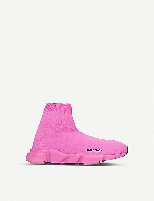 BALENCIAGA Speed knitted high-top trainers 3-7 years