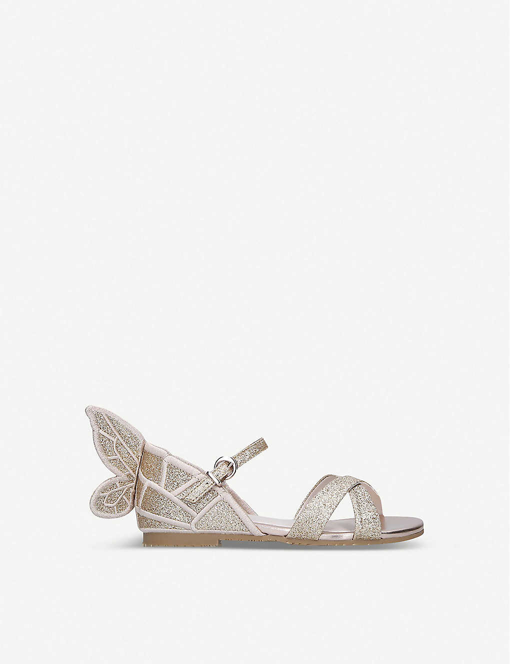 SOPHIA WEBSTER: Chiara mini glittered leather sandals 1-4 years