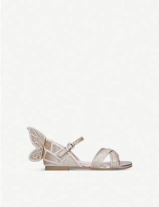 SOPHIA WEBSTER: Chiara mini glittered leather sandals