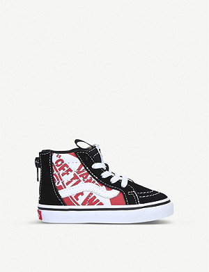 VANS Sk8 Hi canvas and suede trainers