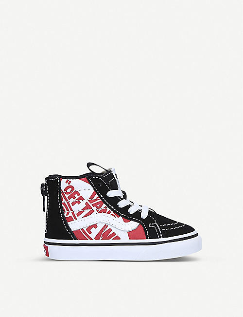 VANS Sk8 Hi canvas and suede trainers 1-4 years
