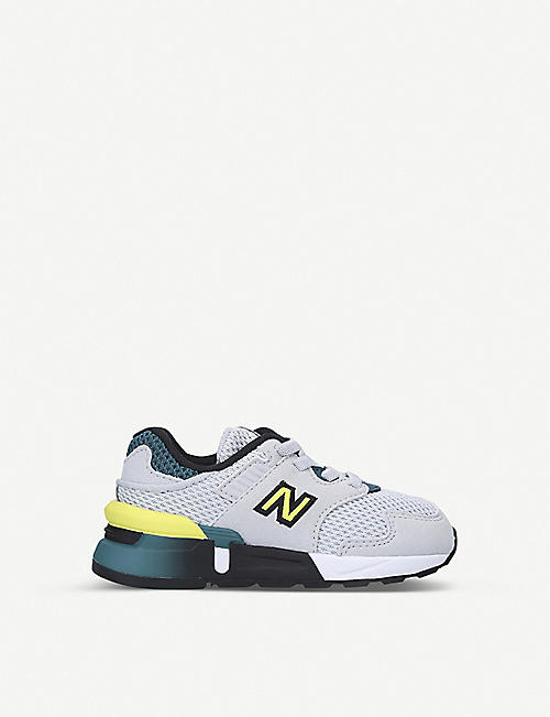 NEW BALANCE: 997 suede and mesh low-top trainers 2-5 years