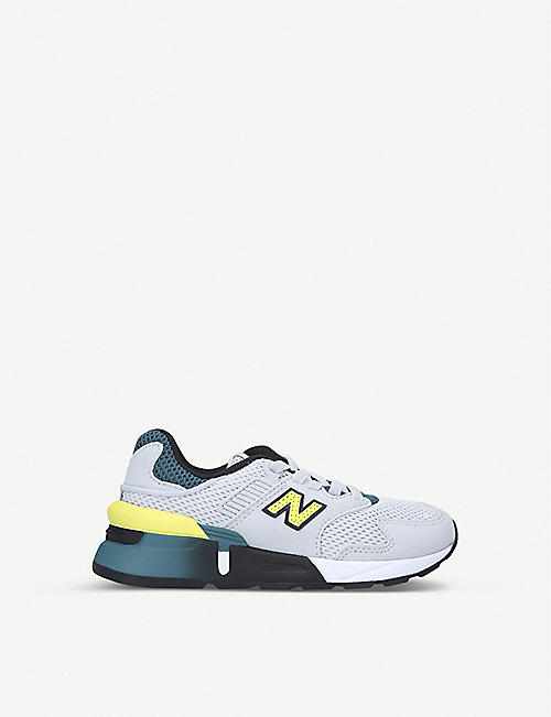 NEW BALANCE: 997 suede and mesh low-top trainers 6-10 years
