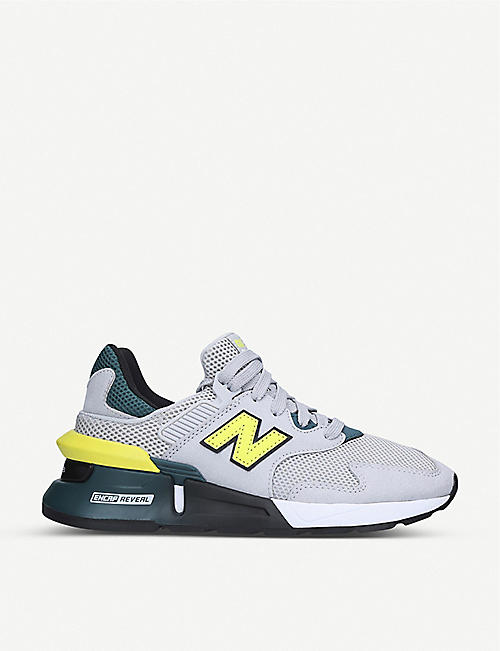 NEW BALANCE 997 suede and mesh low-top trainers 9-12 years