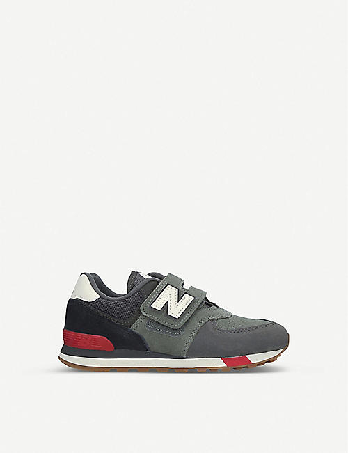 NEW BALANCE 574 panelled suede trainers