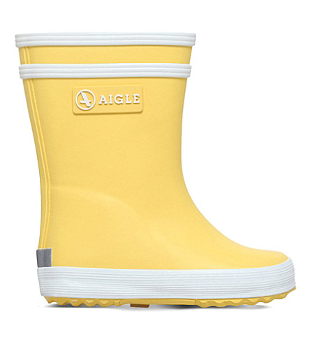 e8ffe5fbdbf1e AIGLE Baby flac rubber wellington boots 6 months - 3 years (Yellow