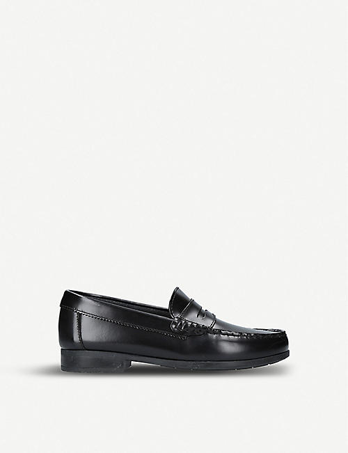 START RITE: Penny 2 heeled leather loafers 7-9 years