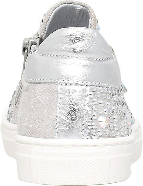 MISSOURI Embellished leather trainers 6-7 years