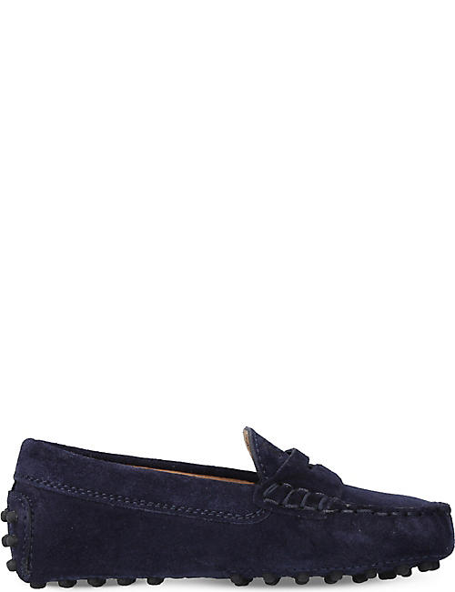 Loafers for Women On Sale, Dark Galaxy blue, Suede leather, 2017, 2.5 4.5 5.5 6 Tod's